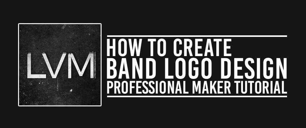 How to create band logo in photoshop professional maker for How to make logo online