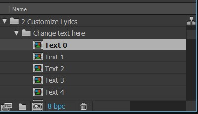 after effects lyric video template - lyric video maker template 1 free download project