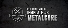 Metalcore Lyric Video Maker Template 3 Free Download