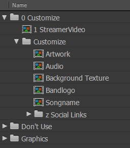 How to make a streamer video for music, after effects customization