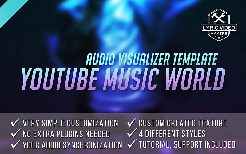 Buy music visualizer template for after effects audio for After effects lyric video template