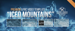 Premium lyric video template for producers and metal, metalcore bands