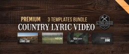 Premium Country Lyric Video Kit for bands. Make videos like Chris Young, Jason Aldean, Luke Bryan and other country superstars!