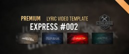 Best simple lyrics video templates for AE