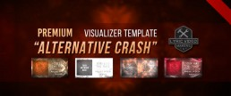 Premium audio track music visualizer for bands. Alternative, metal, nu metal, rock abstract streaming video after effects template