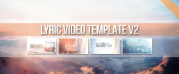 Lyrics video creator template