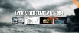 Metal lyrics video creator for animating artworks template